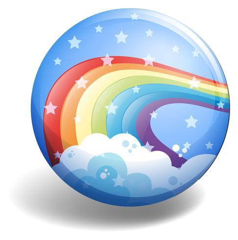 Rainbow-badge vector