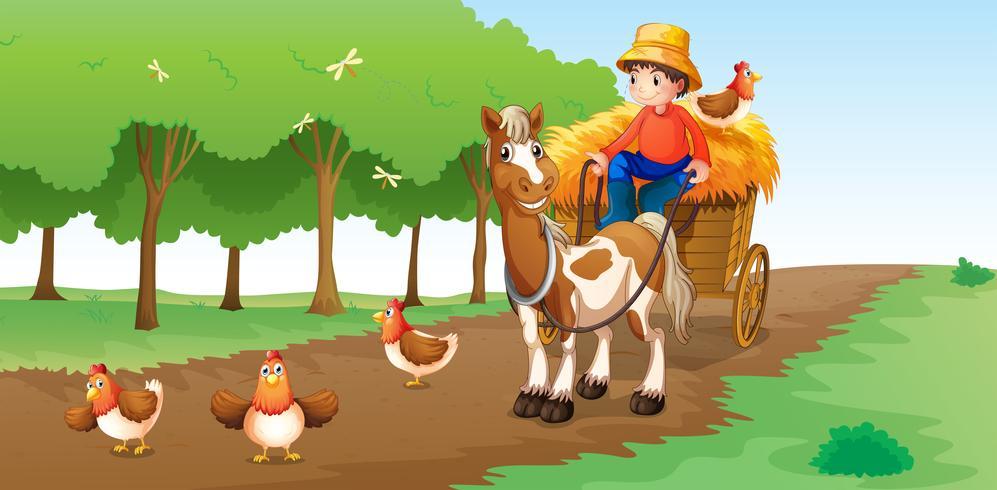 Een boer vector