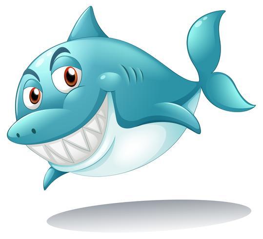 Een haai lachend vector
