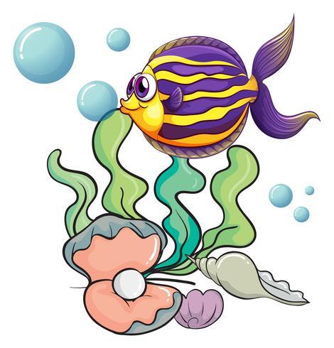 Wezens onder de zee vector