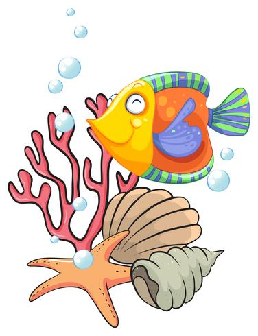 Verschillende zeedieren vector