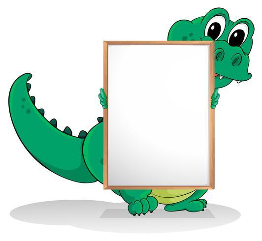 Een krokodil vector