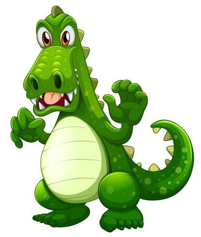 Een boze krokodil vector