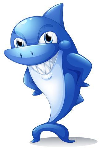 Een grote blauwe haai vector