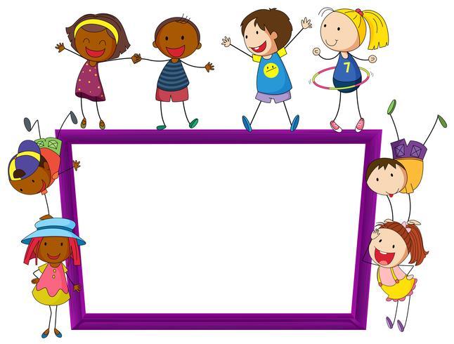 Kinderen en frame vector