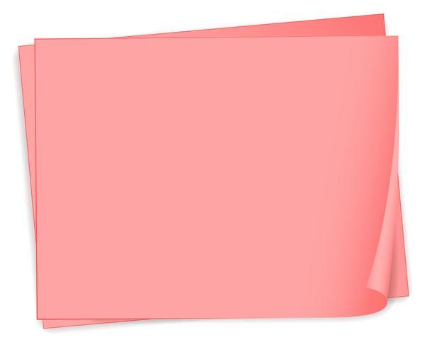Lege roze bondpapers vector