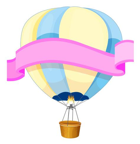 Bannerontwerp met ballon op achtergrond vector