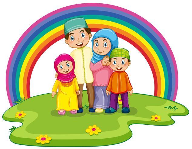Moslim gezin vector