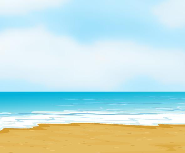 een oceaan en een strand vector