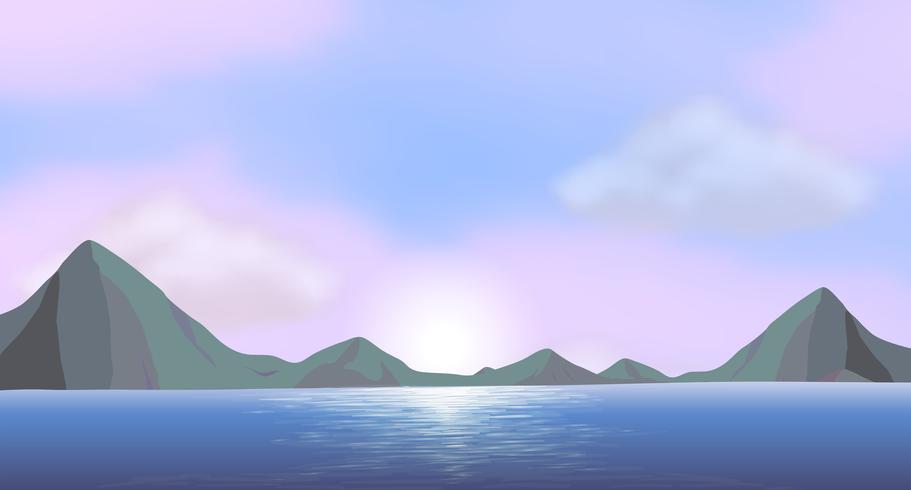 Een oceaan vector