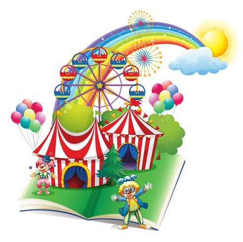 Een verhalenboek over het carnaval vector