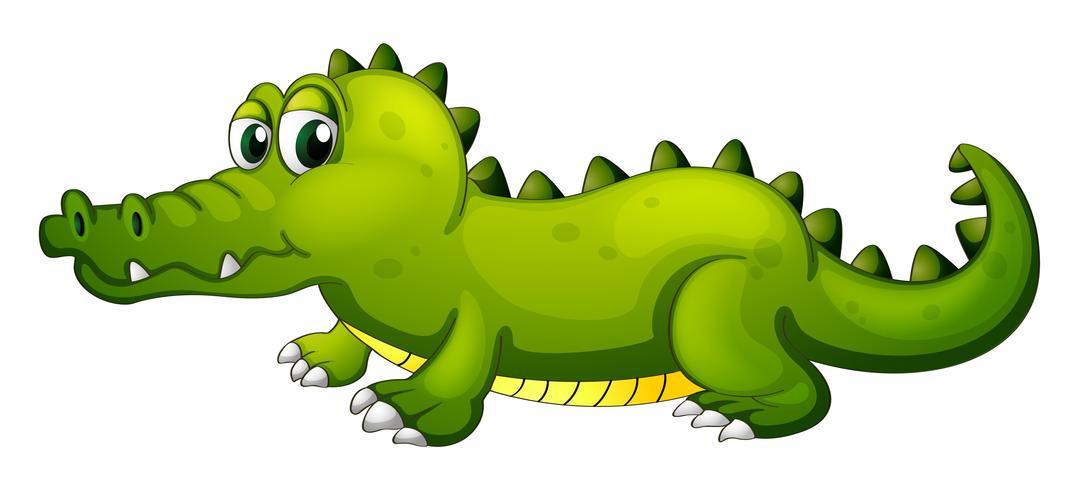 Een gigantische groene krokodil vector
