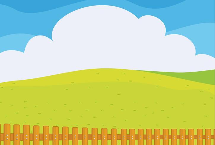 Een prachtig landschap vector