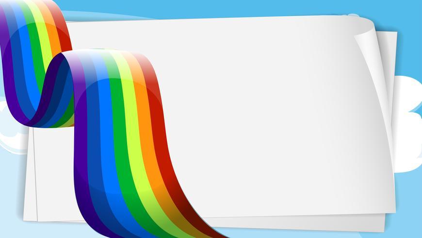Lege bondpaper-sjablonen met een regenboog vector