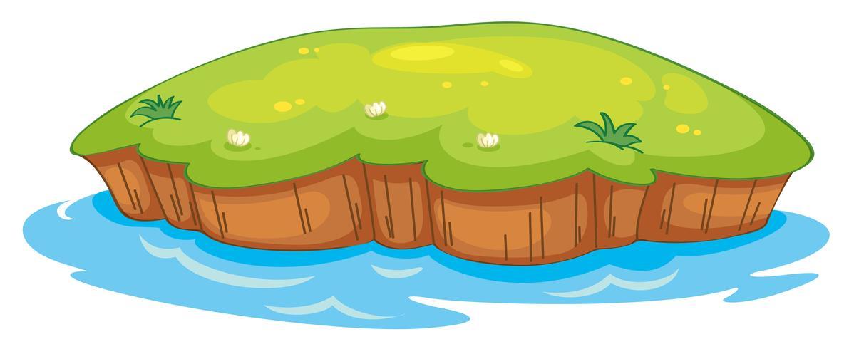 een gazon en water vector