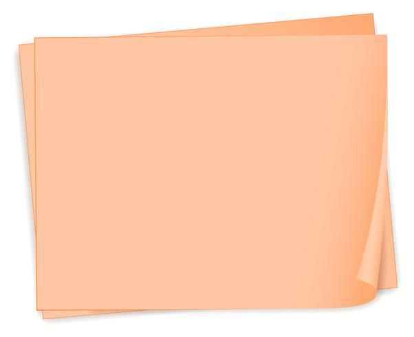 Lege stukjes papier vector