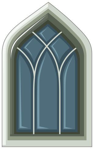 Ouderwetse stijl van venster op wit vector