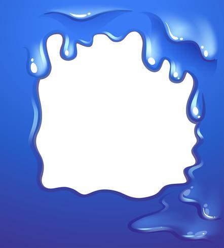 Een blauw randontwerp vector