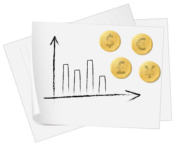 Valutagrafiek vector