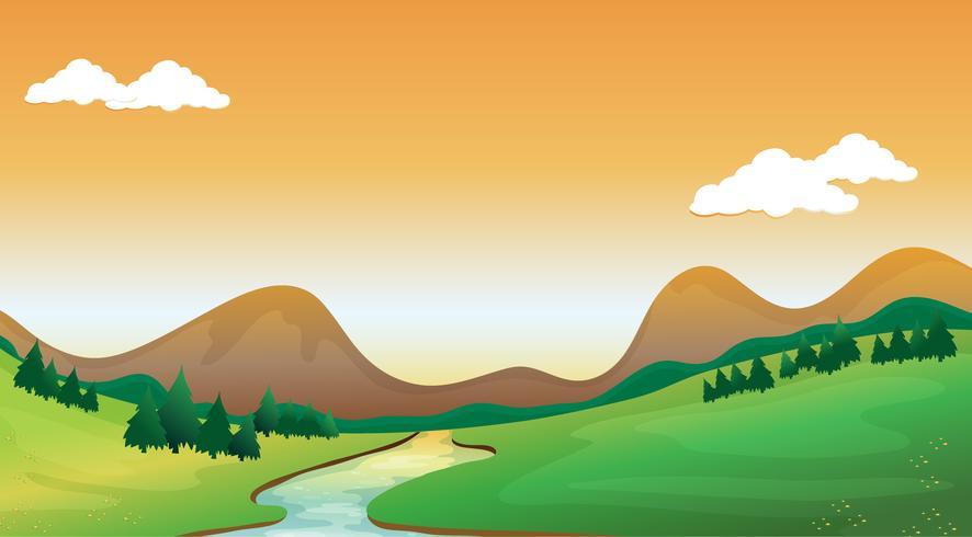 Een uitzicht op de bergen vector