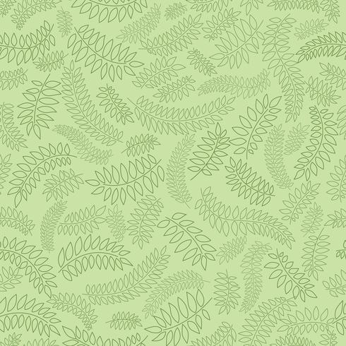 Naadloze bloemmotief. Blad achtergrond. Bloei ornament met bladeren vector
