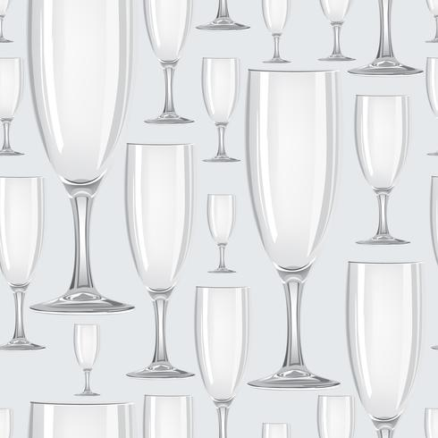 Wijnglas naadloze patroon. Drink wijn achtergrond. Feestelijk feest decor vector