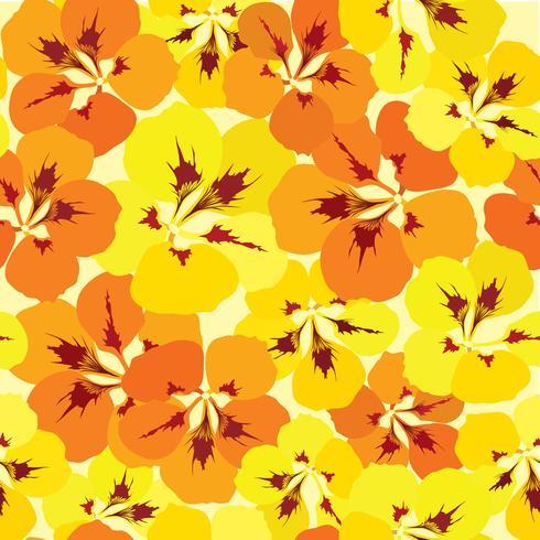 Abstract bloementegelpatroon. Tuin bloem achtergrond vector