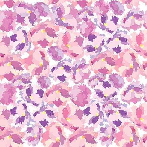 Abstract floral dot Bloemblaadje naadloze patroon Swirl floral textuur vector