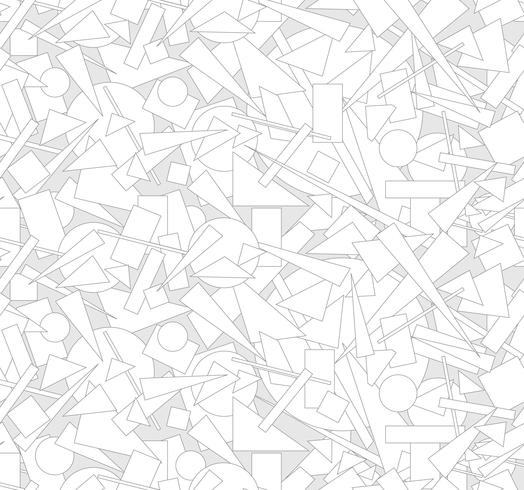 Abstracte geometrische vorm naadloze patroon Chaotische stroom achtergrond vector
