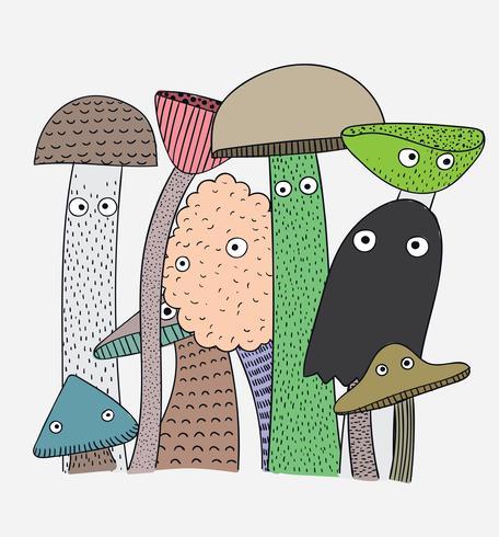Champignons hebben de gezondheidsvoordelen van iedereen vector