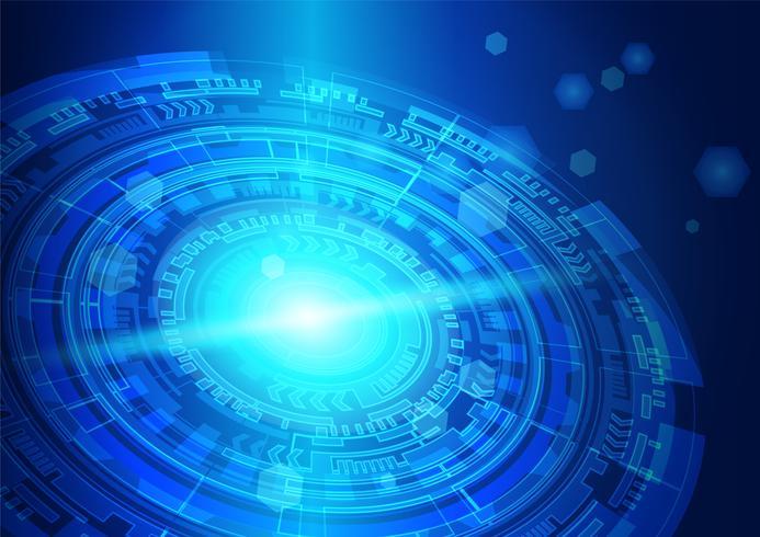 Blauw oog cyber veiligheidsconcept, abstract hallo snelheid digitaal Internet. toekomstige technologie, vectorachtergrond. vector