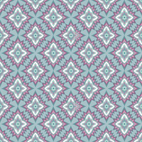 Seamless mosaic pattern Abstract floral ornament Oosterse weefsel textuur vector