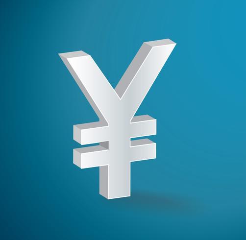 Japanse Yen pictogram symbool vector