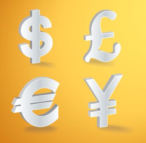 vector valuta pictogrammen