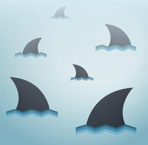 Shark vector achtergrond