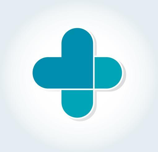 hart in ziekenhuis pictogram ontwerp, hart in medische symbool vector
