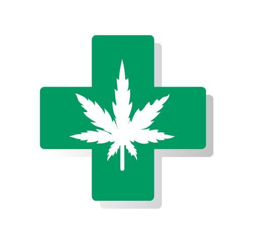cannabis therapie medisch en gezondheidszorg vector