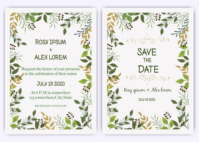 Het huwelijk nodigt, uitnodiging, sparen het ontwerp van de datumkaart met de elegante anemoon van de lavendeltuin uit. vector