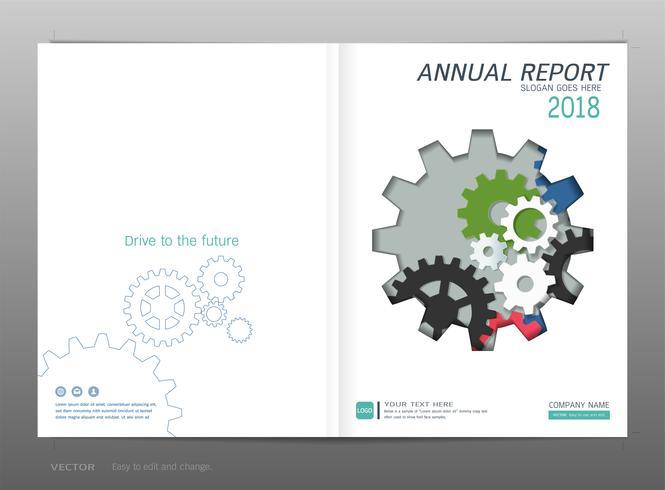 Coverontwerp jaarverslag, industrieel en engineeringconcept. vector