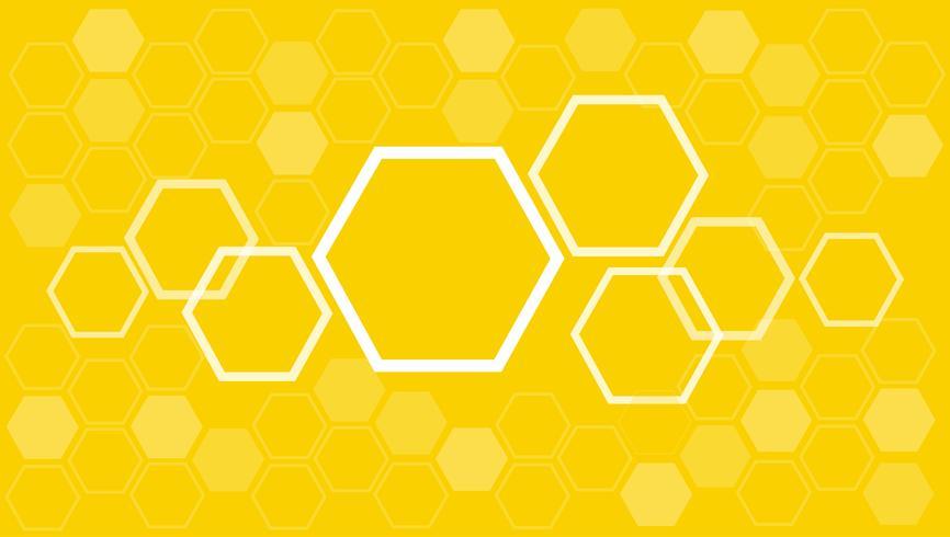 zeshoek abstracte achtergrond vector