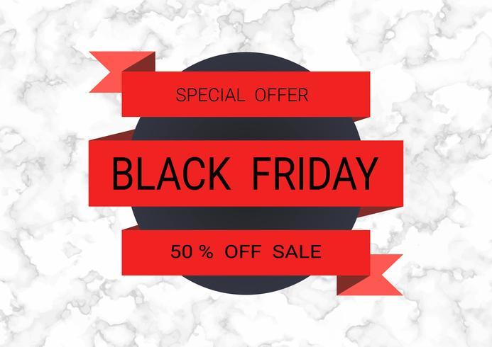 Black Friday-het ontwerpmalplaatje van de verkoopinschrijving. vector