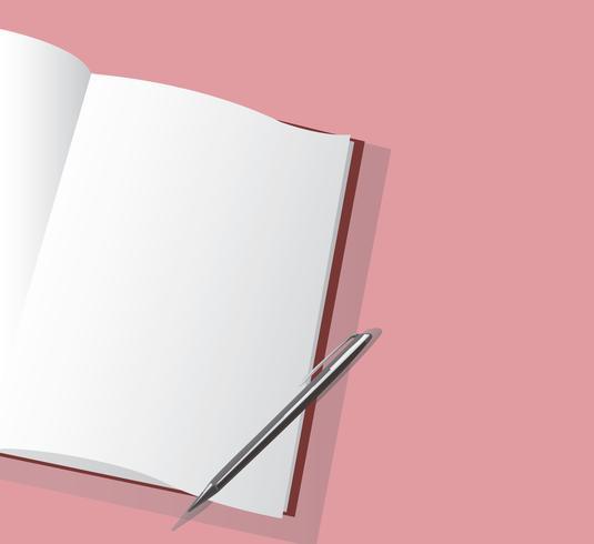 de lege notitieblok en pen vector