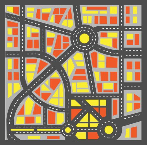 Plan stad vector