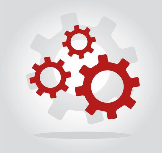 tandwieltechniek symbool vector