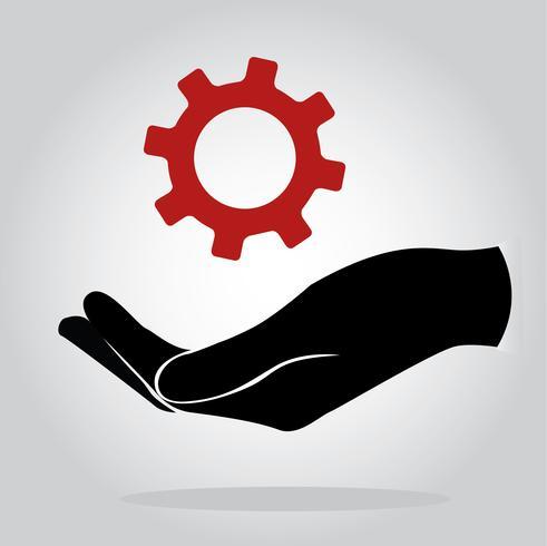 hand met vistuig, ingenieur symbool vector