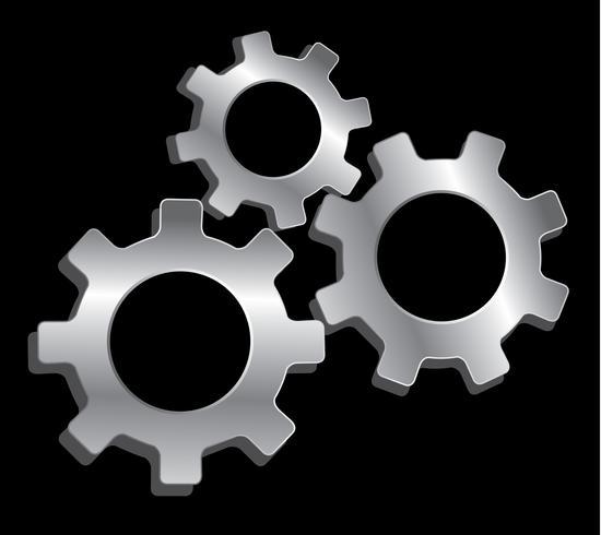 tandwiel techniek symbool vector