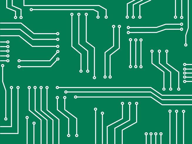 microchip lijn technologie symbool abstracte achtergrond vector
