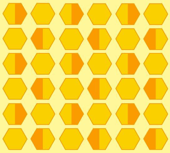bee hive zeshoek pastel cartoon achtergrond vector