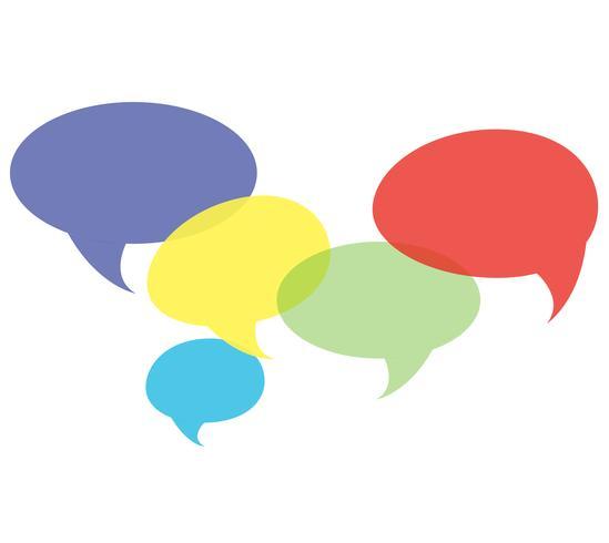 praatjessymbool, communicatie achtergrondvector vector