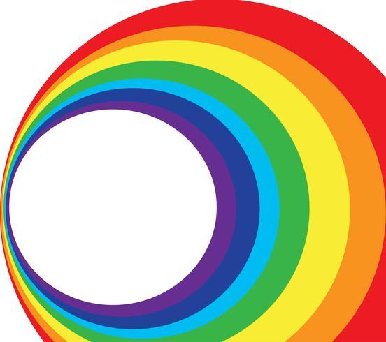 ruimte en regenboog cirkel achtergrond vector